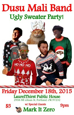 LaurelThirst Ugly Sweater Party Flyer